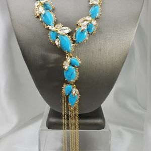 ALEXIS BITTAR TURQUOISE HOWLITE NECKLACE
